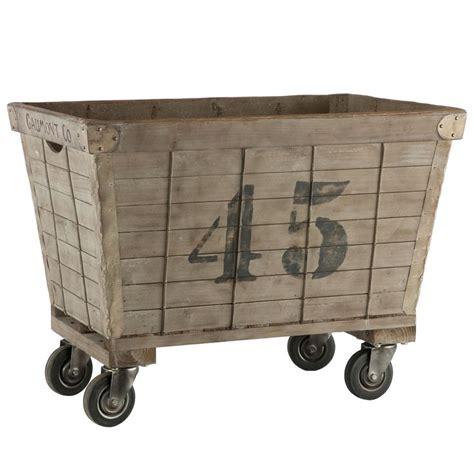 vintage style iron laundry basket on wheels jpg 736x736